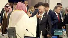 BUENOS AIRES, Argentina: World leaders including a beaming Vladimir Putin welcomed Saudi Arabia's Crown Prince Mohammed bin Salman on Friday at the G… Prince Mohammed, Friends Laughing, Nine Months, High Five, News Channels, World Leaders, Nbc News, Secret Obsession, Saudi Arabia