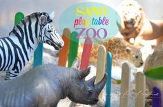 A house full of sunshine: Summer holiday special - Sand play table zoo