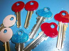 pinterest 365 day 252: colour coding of the keys so you don't get them confused!  such a great idea :) thank you pinterest and whoever pinned it first.