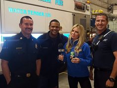Thanks for the cold one guys! (7up not beer ). #firefighters  #lifeofajournalist by brittneyhoppertv