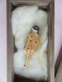 Small Grodnertal Wooden doll c1860 from theluckyblackcat on Ruby Lane