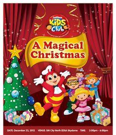 Philippine Ads: Jollibee Kids Club: A Magical Christmas 2012 Jollibee, City North, Freddy S, Magical Christmas, Fnaf, Philippines, Ads, Magazine, Club