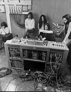 1969. The Beatles and Yoko Ono during a break in the filming of the documentary. | www.republicofyou.com.au