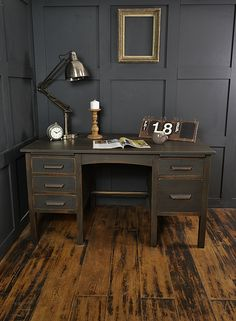 New Shabby Chic Office Space Rustic 37 Ideas Furniture, Vintage Oak Desk, Home Decor, Refurbished Desk, Chic Office Space, Vintage Furniture, Shabby Chic Office, Shabby Chic Furniture, Chic Home Decor