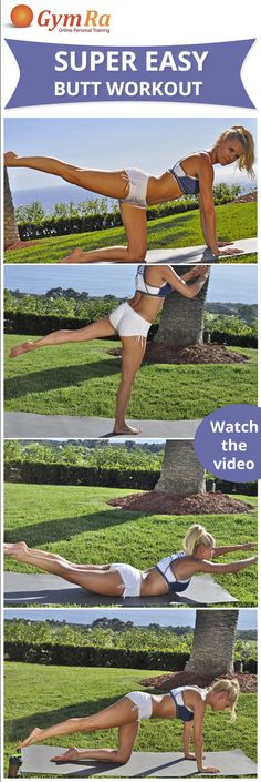 Booty workout for round & firm glutes. Click the image to watch the entire workout!