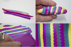 Bargello with the newish Scupley comb bottom. ~ Polymer Clay Tutorials