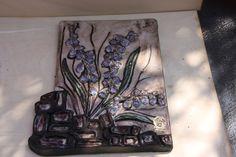 Wandplatte - Wandteller - Blumen Fingerhut  RUSCHA ART    Pop Art - 70er Jahre