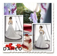 """""""Dameo Wedding dress"""" by newoutfit ❤ liked on Polyvore featuring women's clothing, women's fashion, women, female, woman, misses, juniors, bride, weddingdress and dameo"""