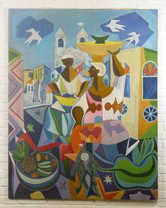 Releitura do quadro Baianas de Di Cavalcanti por Fredi Ambrogi Ateliê http://www.elo7.com.br/releitura-di-cavalcanti/dp/2B337E