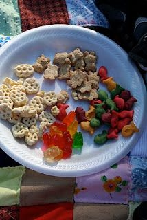 "Teddy Bear Picnic - give them a bag of ""bear food"", then have them sort! - have them graph their favorite snack."
