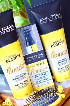 Does John Frieda Really Make You Go Blonder? Lighten Hair Naturally, How To Lighten Hair, How To Make Hair, Blonde Hair Care, Blonde Hair With Highlights, Long Layered Hair, Long Hair Cuts, John Freida Go Blonder, Lightening Shampoo
