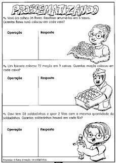 Problemas Matematicos Parte 2 Com Imagens Atividades De