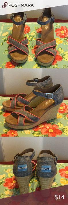 Toms Sandals Cute sandals with blue line material Shoes Espadrilles