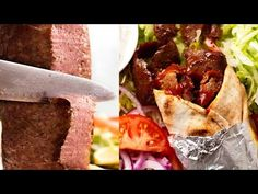 A homemade recipe for the mystery Doner kebab meat you see rotating on vertical rotisseries in kebab shops. EXACTLY like the real deal! Beef or lamb. Mince Recipes, Kebab Recipes, Lamb Recipes, Cooking Recipes, Savoury Recipes, Cooking Videos, Recipe Tin, Homemade Recipe, Gyro Recipe