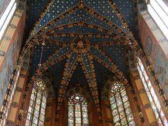 Ceiling, Saint Mary's Basilica, Krakow Poland