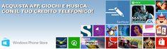 Da oggi puoi acquistare app e musica utilizzando il credito TIM #WindowsPhone #wp http://bit.ly/14mGO5L  #acquistaAPPconTIM