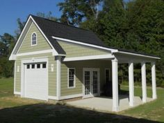 How much does a two car garage cost?How much does a two car garage cost ?: Unlimited incredible free standing garage ideas for your Incredible Freestanding Garage Ideas For Your Home garage garageideas Garage Plans With Loft, Plan Garage, Loft Plan, Garage Loft, Carport Garage, Garage Doors, Garage Storage, Garage Racking, Garage Plans With Apartment