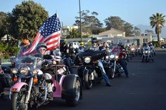 Pink Trike and flag