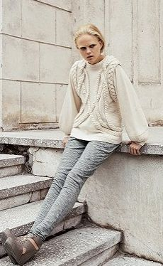 The Blonde Doctrinaire: STINE GOYA CABLE BRAIDED SWEATER