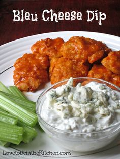 This Bleu Cheese Dip is so simple to make and perfect for any party! It goes so well with veggies or buffalo wings! Appetizer Dips, Yummy Appetizers, Appetizer Recipes, Snack Recipes, Cooking Recipes, Cooking Tips, Yummy Recipes, New Recipes, Yummy Food