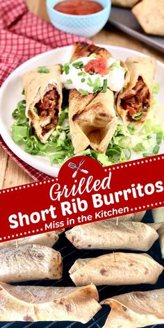 Short Rib Burritos are a delicious dinner to make with leftover short ribs. Make these burritos on the grill or in the oven for a quick and easy meal any night of the week. Grilling Recipes, Slow Cooker Recipes, Cooking Recipes, Pasta Recipes, Appetizer Recipes, Chicken Recipes, Easy Weeknight Meals, Easy Meals, Grilled Short Ribs