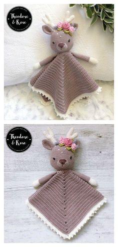 Amigurumi Dear Lovey Blanket Crochet Pattern baby blanket animals 8 Cute Baby Lovey Blanket Crochet Pattern - Page 2 of 2 Crochet Lovey Free Pattern, Crochet Gratis, Crochet Blanket Patterns, Baby Blanket Crochet, Crochet Baby Toys, Cute Crochet, Crochet Animals, Crochet Dolls, Crochet Baby Stuff