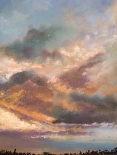 Evening sky. Pastel. Glyn Overton.