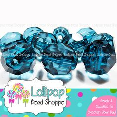 TEAL Faceted Round Beads Transparent 20mm Chunky Necklace Beads 10ct Acrylic Beads Clear Gumball Beads Bubble Gum Beads Bubblegum Beads by LollipopBeadShoppe, $3.75