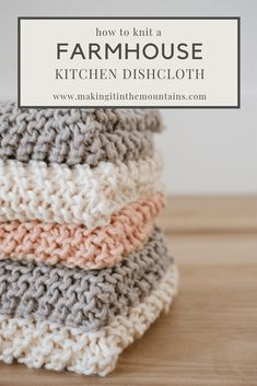 Learn how to knit a farmhouse kitchen dishcloth with this simple, beginner pattern commonly known as Grandmother's Favorite Dishcloth. # Dishcloth Knitting Patterns How to Knit a Farmhouse Kitchen Dishcloth Dishcloth Knitting Patterns, Free Knitting, Crochet Patterns, Knitted Dishcloth Patterns, Simple Knitting Patterns, Dishcloth Crochet, Crochet Afghans, Crochet Blankets, Knitting Needles