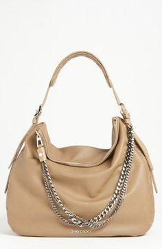 Jimmy Choo 'Boho - Large' Leather Hobo available at #Nordstrom  Would love a jimmy choo handbag...