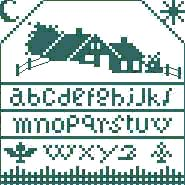 Grilles et diagrammes; free alphabet sampler counted cross stitch chart