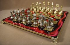 Browse Excellent metal chess sets, chessmen and other metal chess sets from the finest craftsmen #ChessBoardwithMetalChessMen #bonechesspieces #WoodenChessPieces