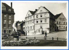 Rastenburg, Brunnenfigur, Bahnhofstraße, Mühlenwerke und Rollberg