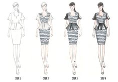 Fashion Illustration Patterns Fashion Illustration: How to Sketch with Vikki Yau Illustration Mode, Fashion Illustration Sketches, Fashion Sketches, Fashion Line, Fashion Art, Fashion Design, All About Fashion, Passion For Fashion, Fashion Sketch Template