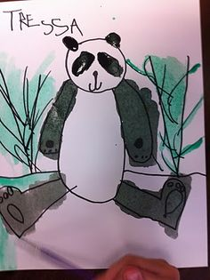 How to Draw a Panda Bear - Fairy Dust Teaching-Chinese New Year Drawing Projects, Drawing Lessons, Art Projects, Fairy Dust Teaching, Teaching Art, Teaching Drawing, Easy Drawings Sketches, Art Drawings, Kindergarten Art Lessons