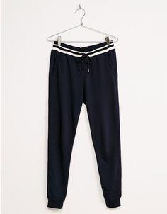 Pantalón jogger cintura rayas - Pantalones - Bershka España