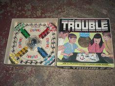 Vintage Kohner Trouble Board Game 1965 No. 310 Complete Great Conditio