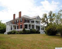 Windsor Hill c.1848, Charlottesville VA: Classic Greek Revival-style architecture w/brick exterior, wrap around veranda, wooden floors, etc.