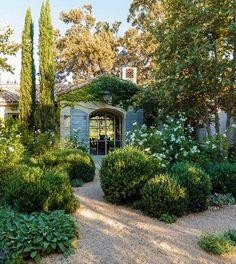 brooke and steve giannetti / patina farm ojai Side Garden, Balcony Garden, Patina Farm, Garden Seating, Fruit Trees, Hedges, House Rooms, Future House, White Flowers