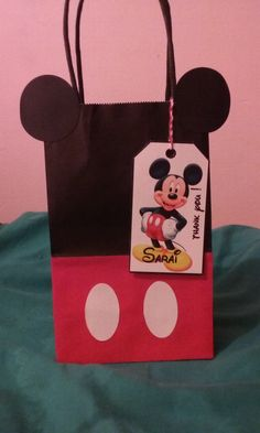 Mickey Mouse favor bags by KiarasLittleBoutique on Etsy