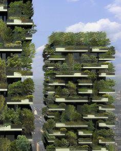 Milan's Bosco Verticale (Vertical Forest), designed by Boeri Studio.