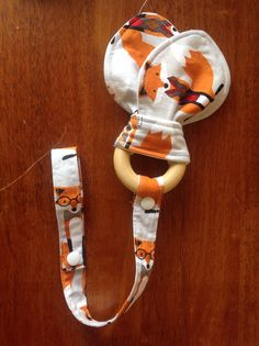 Tula foxy wooden teething ring check out my page https://www.facebook.com/Starfishbabiesbugaboocustoms