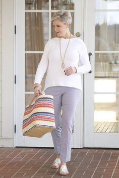 #ad @halsbrook kinross pullover, elliott and lauren striped regatta pants