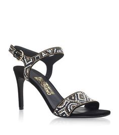 e8d38a7856c4 Buy Salvatore Ferragamo Black Leather Printed Sandals online in India at  best price.Salvatore Ferragamo Ella Mosaic Heeled Sandals available to buy  at ...