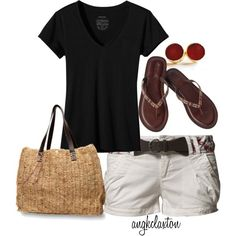 """""""Always Versatile Black Tee"""" by angkclaxton on Polyvore love it!!!!"""