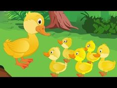 Five little ducks went out one day song with words.   El cancion Cinco patitos fueron algún día con palabras en ingles