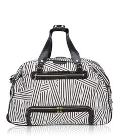 disturbed stripe wheelie duffle - designer luggage - wheeled luggage