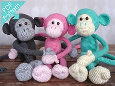Amigurumi Monkey Pattern Free : Crochet monkey and his banana my sis and i are gonna attempt it
