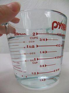 Measure two cups of water. Skeleton leaf tutorial.