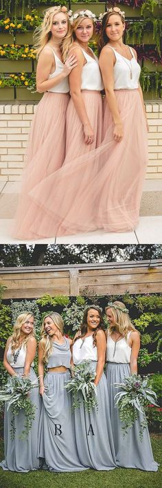 bridesmaid dresses, boho style wedding party dresses, long bridesmaid dresses